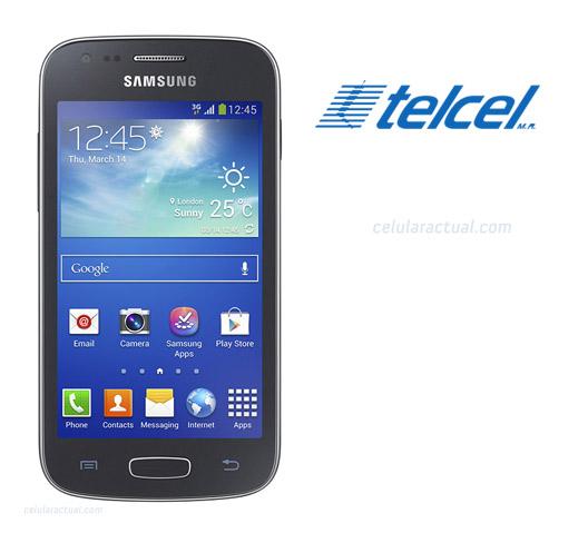 Galaxy Ace 3 en México con Telcel logos