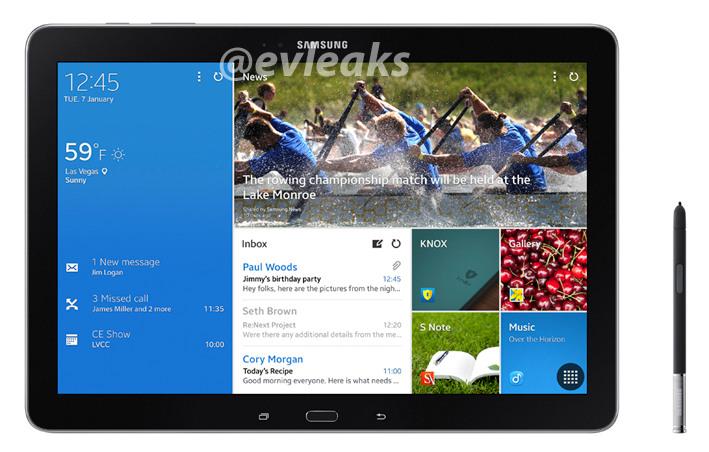 Samsung Galaxy Note Pro 12.2 pantalla