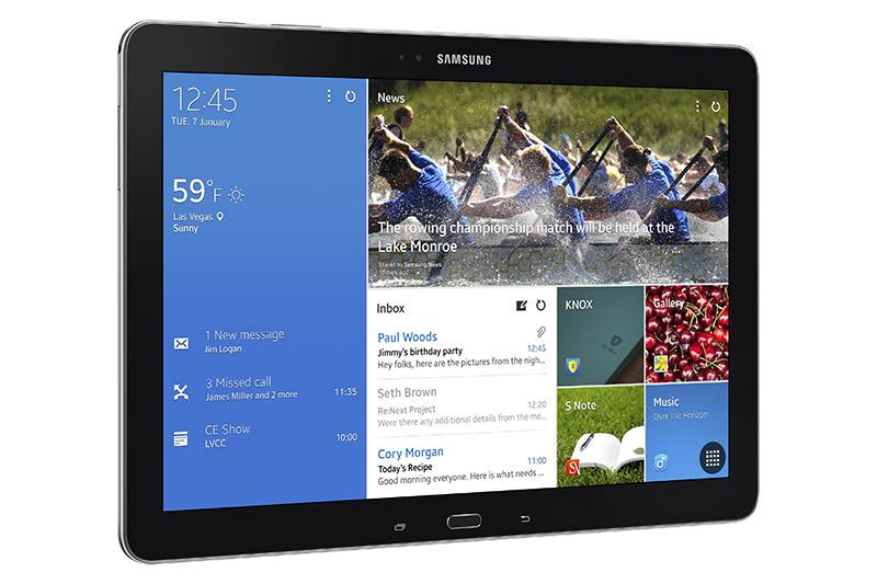 Samsung Galaxy NotePro de lado pantalla 2