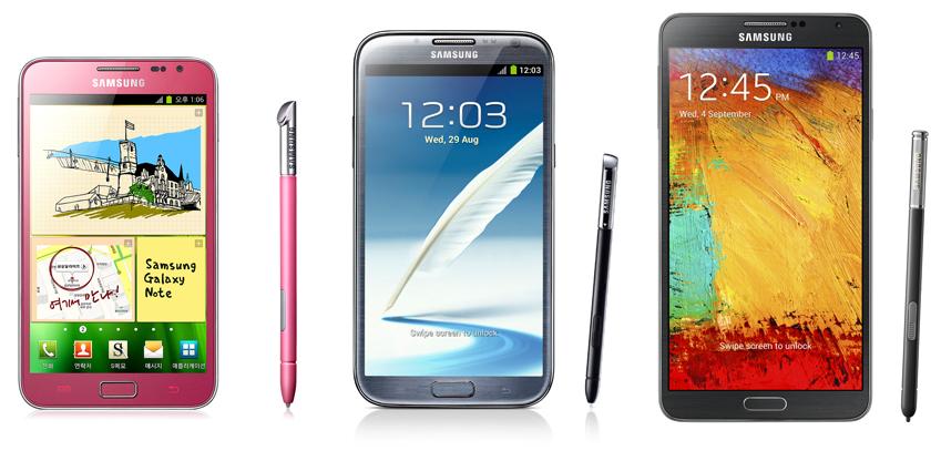 Samsung Galaxy Note I Note II y Note 3