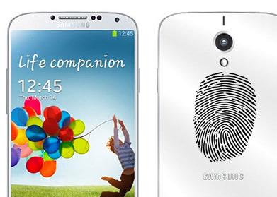 Galaxy S5 render No oficial y huella digital o dactilar