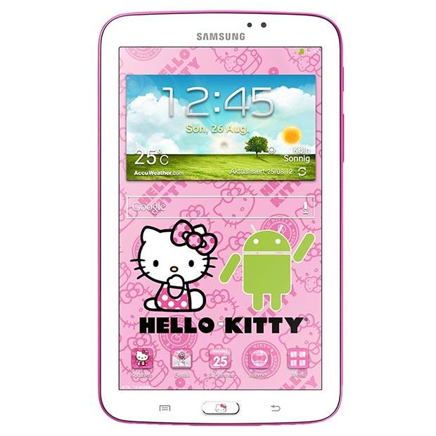 Samsung Galaxy Tab 3 7.0 Hello Kitty en México frente pantalla