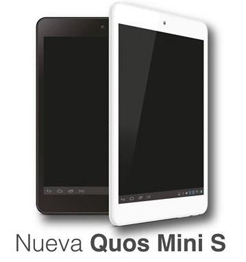 Inco Quos Mini S tablet negra y blanca