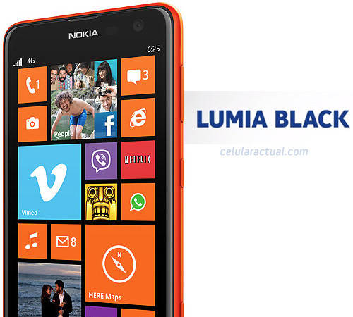 Nokia Lumia 625 update GDR3 y Lumia Black