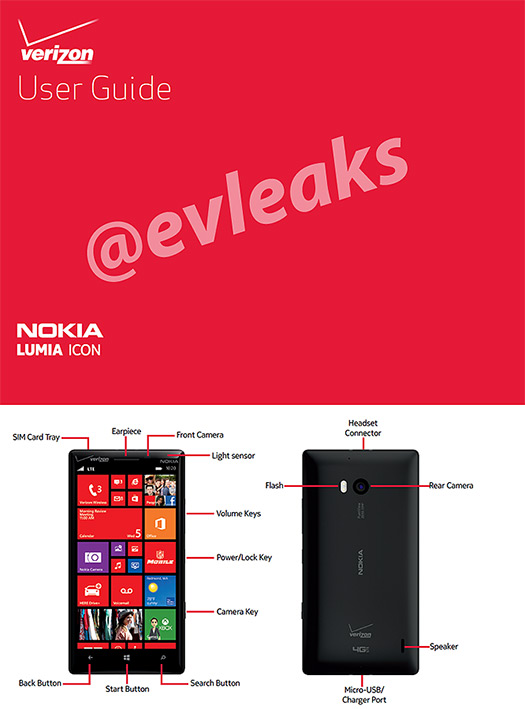 Nokia Lumia Icon 929 guía User Guide Verizon