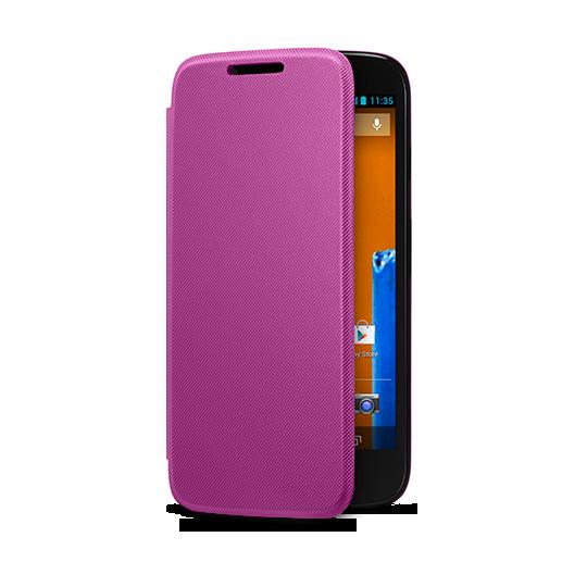 Motorola Flip Shells para Moto G color Morado