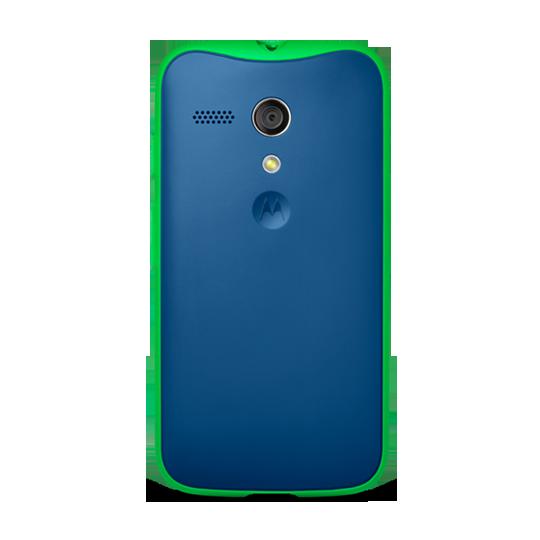 Motorola Grip Shells para Moto G color Azul