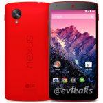 El Nexus 5 color Rojo en primer imagen de prensa oficial