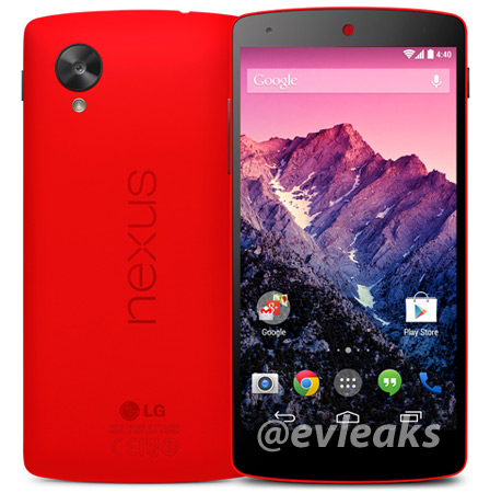 LG Nexus 5 color rojo oficial de prensa - Red