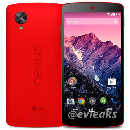 LG Nexus 5 color rojo oficial de prensa - Red
