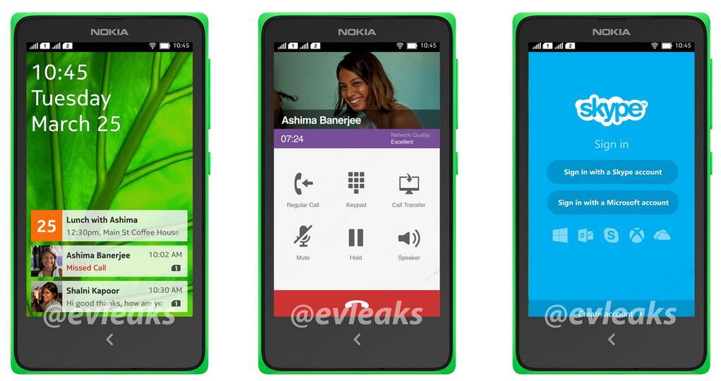 Nokia Normandy Nokia's Android Phone Interfaz UI big