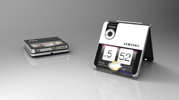 Samsung flexible foldable render No official
