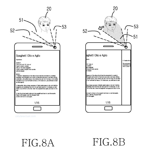 Samsung patente movimiento de cabeza rostro