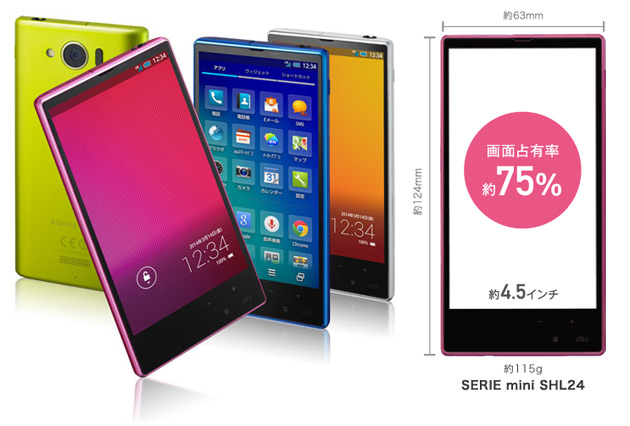 Sharp Aquos mini SHL24, un IGZO Full HD con Snapdragon 800 es oficial