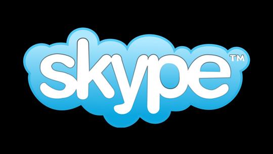 Skype Logo logotipo fondo negro