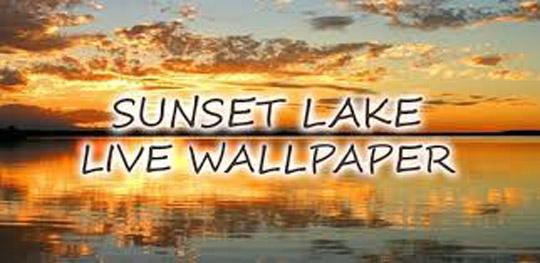 app sunset lake live wallpaper