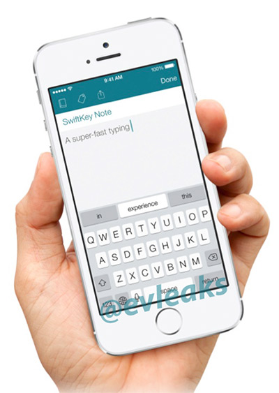 SwiftKey Note en un iPhone