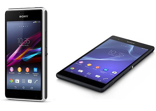 Sony Xperia T2 Ultra y Xperia E1 juntos
