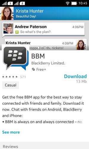 BBM pantalla