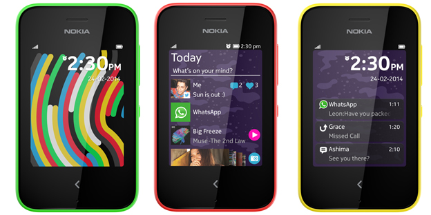 Nokia Asha 230 colores