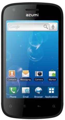 Azumi A35 Android en México con Telcel pantalla