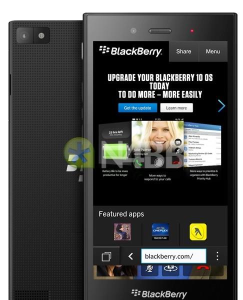 BlackBerry Z3 Jakarta pantalla y cámara filtración