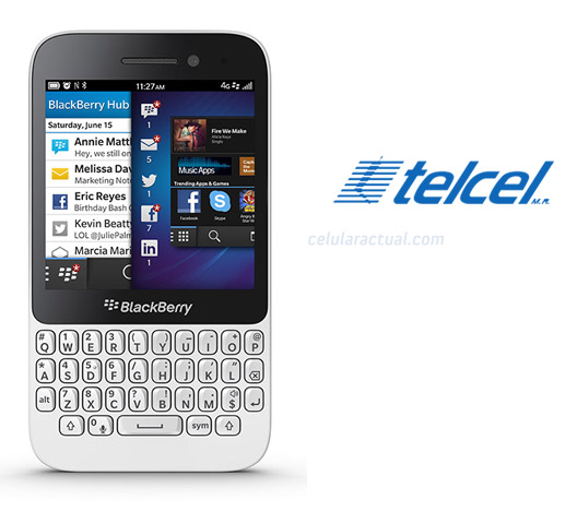 BlackBerry Q5 en México con Telcel color blanco