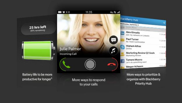 BlackBerry OS 10.2.1 pantalla en México con Telcel