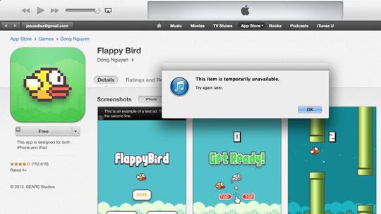 flappy bird retirado