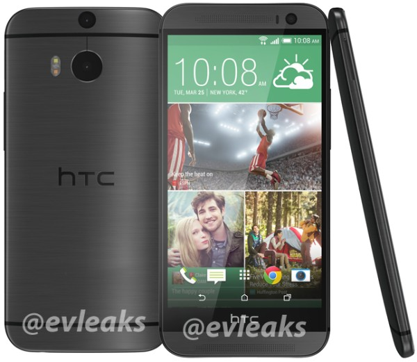 El Nuevo HTC One (M8) nuevas imágenes de prensa en color gris y plata