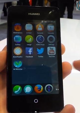 Huawei Ascend Y300 II con Firefox OS 1.1 pantalla