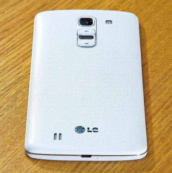 El  LG G Pro  2 en directo cámara con botón trasero