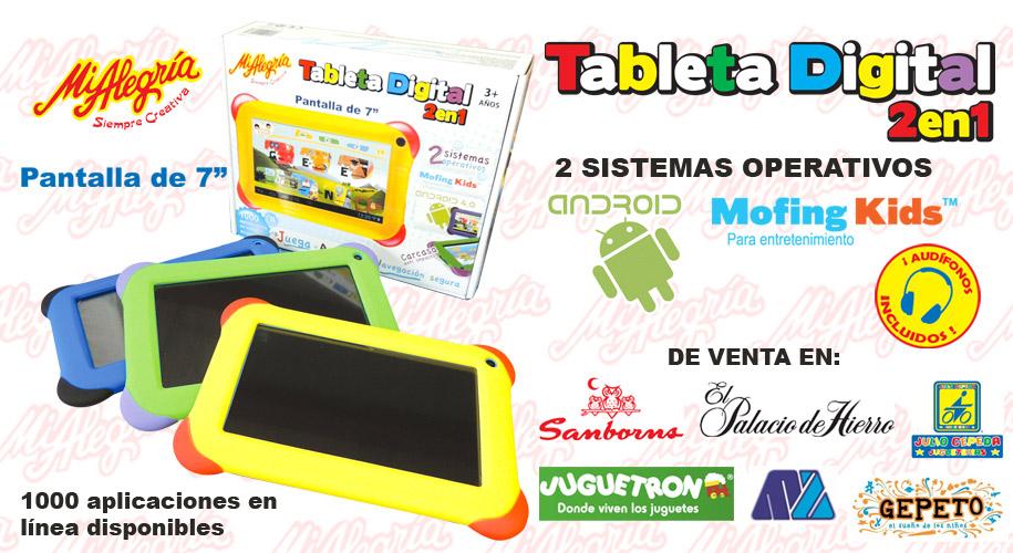 Mi Alegría Tableta Digital 2 En 1 en México detalles