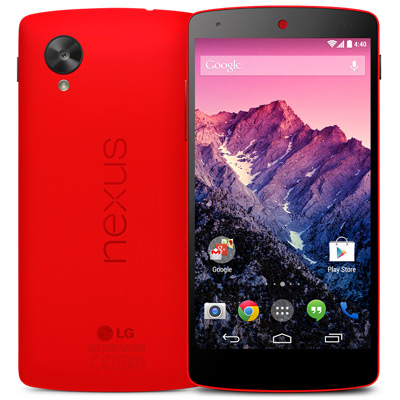 LG Nexus 5 Red official - color rojo