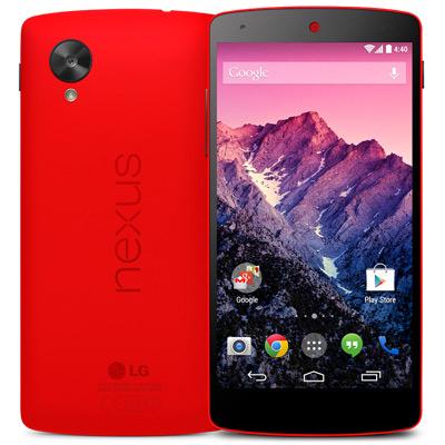 LG Nexus 5 Red official - color rojo
