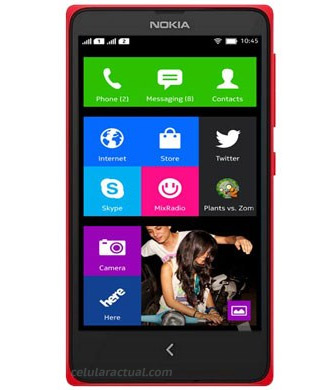 Nokia X Normandy Android phone color rojo