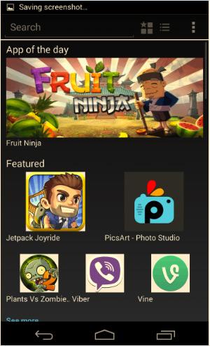 La Nokia X app store captura de pantalla