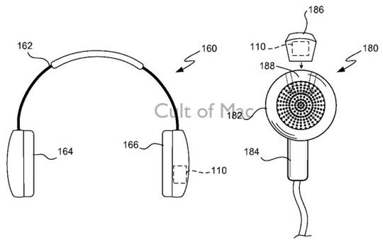 patente audífonos Apple