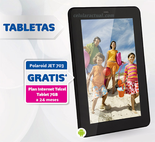Polaroid Jet 703 en México con Plan Internet Telcel Tablet 7 GB