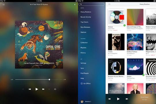 Nueva actualización de Rdio para iOS permite evitar listas de reproducción