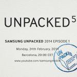 Samsung confirma evento Unpacked 5 para presentar el Galaxy S5 el 24 de febrero
