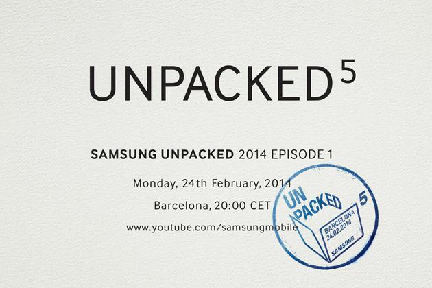 Samsung Unpacked 5 2014 Episode 1 Invitation - Invitación