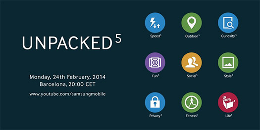Samsung muestra adelanto de nueva interfaz del Galaxy S5 en teaser del Unpacked 5