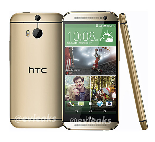New HTC One (M8) Gold - Color Oro imagen de prensa oficial