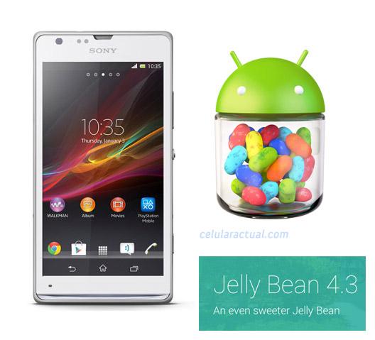 Sony Xperia SP con Android 4.3 Jelly Bean en México