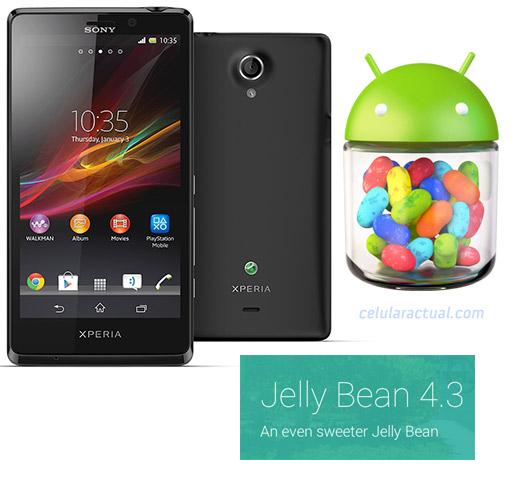 Sony  Xperia T a Android 4.3 Jelly Bean en México