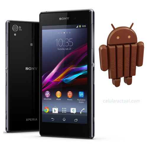 Sony XPeria Z1 con Android 4.4 KitKat