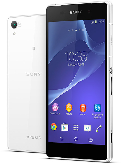 Xperia Z2 color blanco oficial Video 4K Android 4.4 KitKat