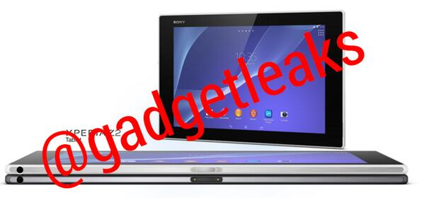 Sony Xperia Z2 tablet pantalla, colores recostadas