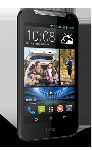 HTC Desire 310 negro pantalla